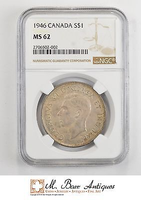 MS62 1946 Canada $1 Silver - NGC *530