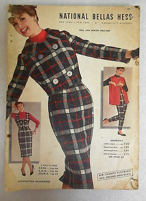 Bellas Hess Fashion Catalog Fall and Winter 1960-1961 Vintage