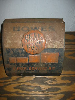 Vintage 40's Era Bowles Seal Fast Tire Repair Cabinet With Tools Rat Rod Garage