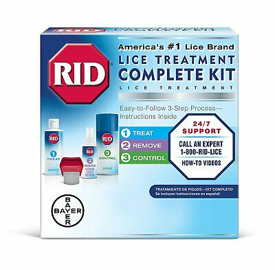 Rid Complete Lice Elimination Kit With Ridvantage Lice Comb - 1 Kit (Pack Of 3)