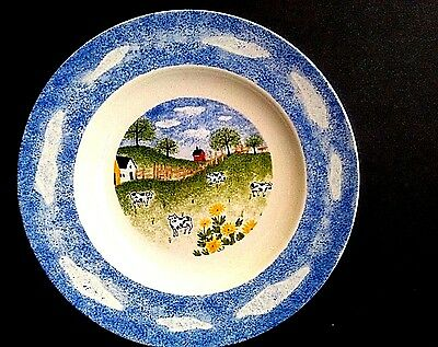 "Folkcraft ""Country Side"" Stoneware 8.5"" Pasta/Salad/Dessert Plate Country Chic"
