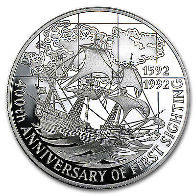 1992 Falkland Islands Silver 25 Pounds 1st Sighting Proof