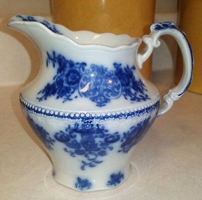 Flow Blue Clarence Creamer by Grindley