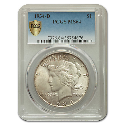 1934-D Peace Dollar MS-64 PCGS