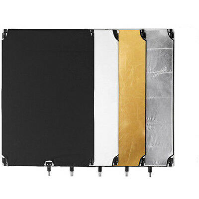 "Pro Studio 36""x 48"" 4-in-1 Flag Panel Reflector W/ 3/8"" Screw Hole Set NEW U.S"