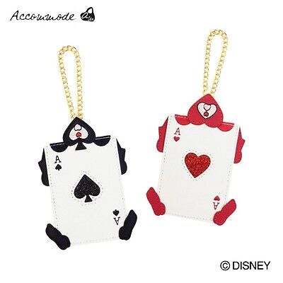 NEW Disney Alice in Wonderland Cards Pass Case Red/Black from Japan F/S
