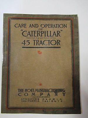 Care and Operation of Caterpillar 45 Tractor book