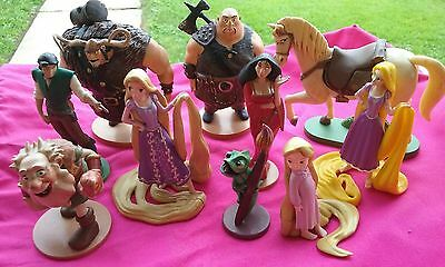 Disney Rapunzel Tangled PVC Figure Lot of 8 Cake Toppers Toys