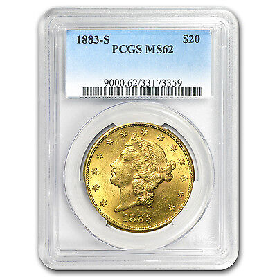 1883-S $20 Liberty Gold Double Eagle MS-62 PCGS