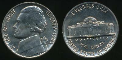 United States, 1985-P 5 Cents, Jefferson Nickel - almost Uncirculated