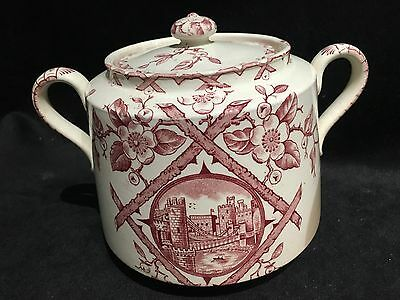 Antique Red Transferware  W & Co Staffordshire England - Hanley Pttn:Alaska Jar