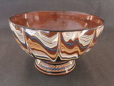 Pottery Bowl with Wave Patterning - possibly Native American influence