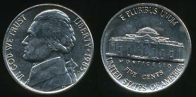 United States, 1985-D 5 Cents, Jefferson Nickel - almost Uncirculated