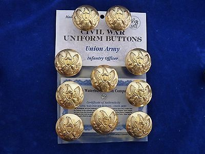 Union Army-Civil War Infantry Officer Buttons - 10 Pieces NEW