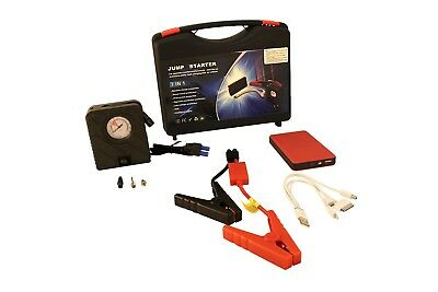 Multi-Function Emergency Car Battery Power-Bank Jump Starter With Air Compressor