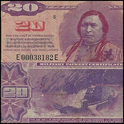 Series 692 $20 Military Payment Certificate US war currency note MPC
