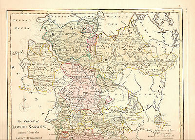 1794 Wilkinson, London Map Of The Circle Of Lower Saxony