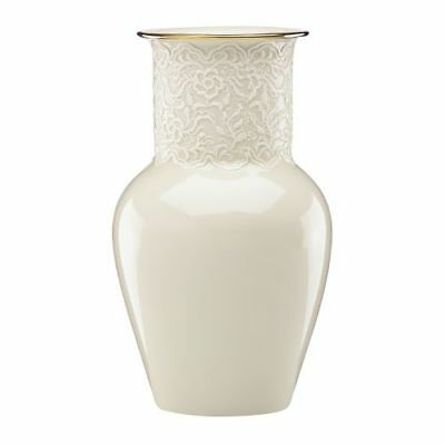 New Lenox Lace Ginger Vase By Lenox