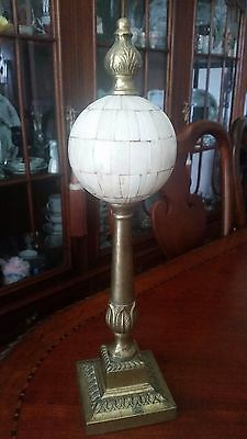 "Vintage Decorative Finial Solid Brass 17"" tall"