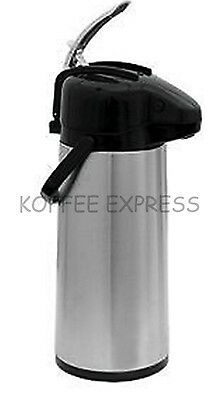 Airpot w/ Lever - Glass Lined, Stainless Steel Body, Black Lid - Update Int'l