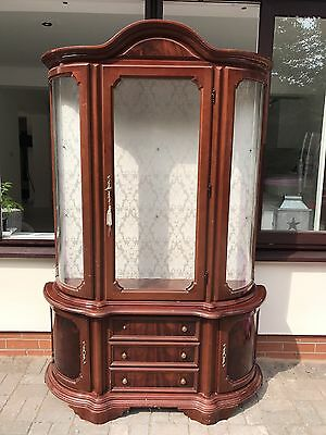 Antique Reproduction Glass Display  Cabinet