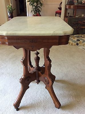 Victorian Marble-Top Side Table