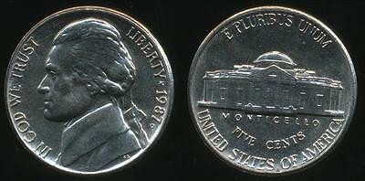 United States, 1987-P 5 Cents, Jefferson Nickel - Uncirculated