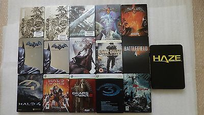 PS3 & XBOX 360 Steelbook ONLY, Batman, Halo, Dead Island, Tomb Raider (NO GAMES)