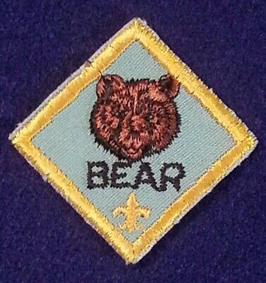 Cub Scout Bear Rank Patch - Twill - 1972 To Present - Pre-Owned - B00107
