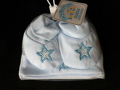 I'm a star = blue  hat and bootees set by Soft Touch newborn bnwt