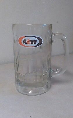 Vintage and Rare Large Glass A&W Root Beer Mug