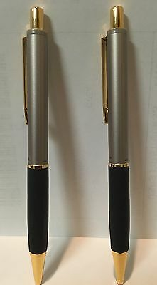2 NEW PAPERMATE SILHOUETTE CHAMPAGNE & GOLD TRIM Pen