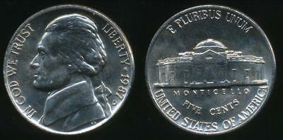 United States, 1987-D 5 Cents, Jefferson Nickel - Uncirculated