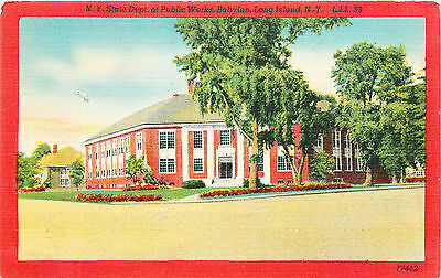 Babylon, Department Of Public Works, Long Island, New York, Vintage Postcard