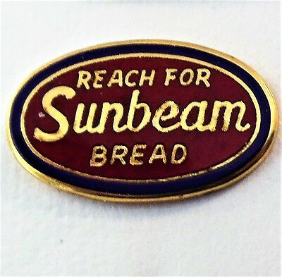 """Vintage Pin """"Reach for Sunbeam Bread"""" Oval"""