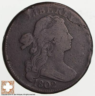 1802 Draped Bust Large Cent *2527