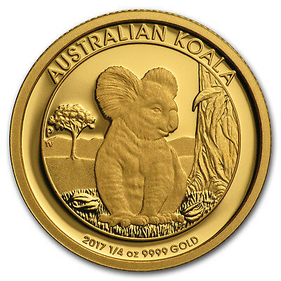 2017 Australia 1/4 oz Gold Koala Proof - SKU #152525