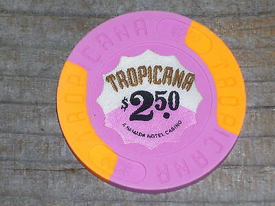 $2.50 1St Edition 1981 Back Up Chip From Tropicana Casino In Atlantic City