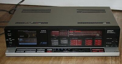 Aiwa AD-F990 3 head cassette deck.  Serviced/warranty, very good condition