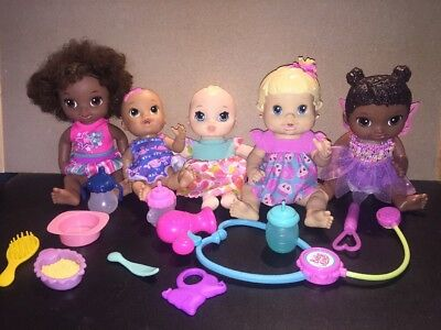 Baby Alive Lot Of Five Dolls With Accessories 2008 2016
