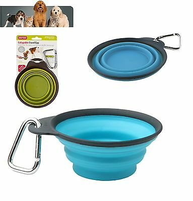 Dexas Popware Collapsible Travel Water Cup Small Large 8oz 16oz Blue Green