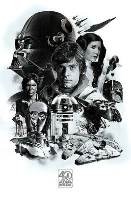 Star Wars: Episode Iv - Movie Poster (40Th Anniversary Character Montage)