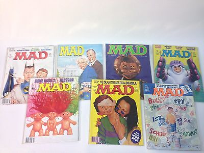 Lot of 7 Mad Magazines Good condition 1992- Issues 314–320