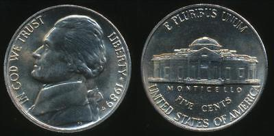 United States, 1989-P 5 Cents, Jefferson Nickel - Uncirculated