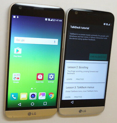 Lot of 2 LG G5 H830 T-Mobile 32GB Smartphones Both Power On Good LCD AS-IS GSM *