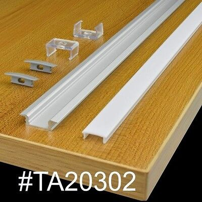 "TECLED 46"" 4Ft. LED Aluminum Profile for Strip/Tape Light Recessed Mount Frosted"
