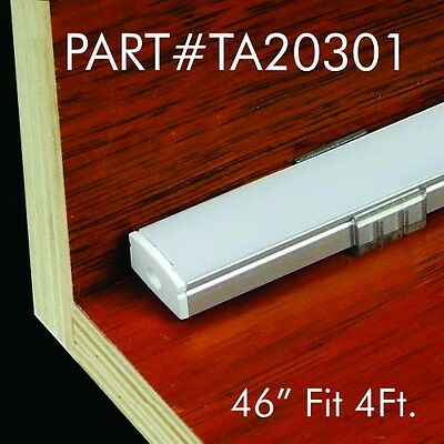 "TECLED 46"" 4Ft. Aluminum Profile U Channel for LED Strip/Tape Light #20301Silver"