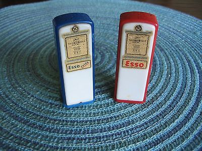 Very Vintage Esso Oil Co Advertising S&P Shakers Connellsville,Pa Made In U.S.A.
