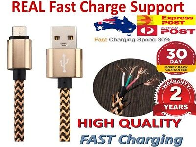 Samsung Galaxy S7 S6 S5 S4 3 Fast charger micro USB data sync cable Aussie Stock