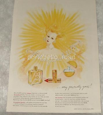 Vintage 1947 Mary Dunhill Lipstick & Perfume Ad